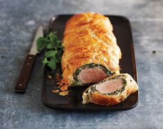 Impress your guests this weekend with this Creamy Spinach Pork Wellington and Easy Fruit Strudel recipe from Bake Fest. Spinach Recipes, Pork Recipes, Cooking Recipes, Recipies, What's Cooking, Dinner Entrees, Dinner Recipes, Dinner Ideas, Brunch Ideas