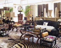 zebra safari decor
