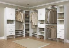 Selectives 16 In. White Custom Closet Organizer