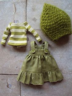 Jumper dress set for Blythe Green par moshimoshistudio sur Etsy