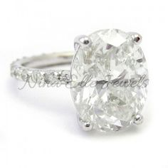 5.65ctw Oval Cut Eternity Style Diamond Engagement Ring O10