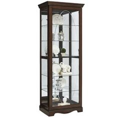 * Blake Etched Lighted Curio Cabinet by Darby Home Co