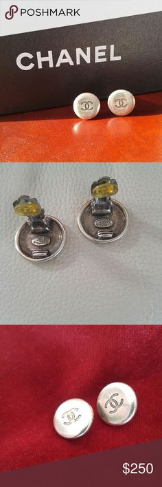 AUTHENTIC CHANEL EARRINGS CHANEL button style  earrings. Classy and stylish with absolutely EVERYTHING. PLEASE NOTE THE CHANEL SEALS. CHANEL Accessories