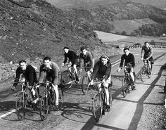 Cycling during petrol rationing, Derbyshire, WWII, October 1939. | Flickr - Photo Sharing!