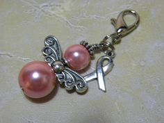 SALE Item Breast Cancer Awareness Angel Charm by inethanscorner, $7.00