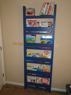 Children's space saving and user friendly bookcase.