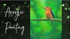 Realisitc Bird Acrylic Painting - Time Lapse Video Painting Videos, Bird, Tv, Artwork, Animals, Instagram, Work Of Art, Animaux, Birds