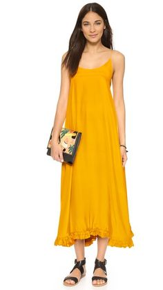 Rhode Resort Mara Silk Maxi Dress