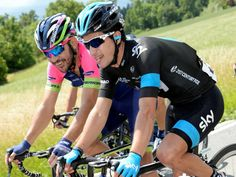 Team Sky | Tour de Suisse | Gallery | Tour de Suisse stage three gallery - Sergio Henao shared a laugh with fellow Colombian Jose Serpa