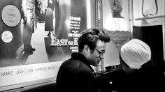 "thelittlefreakazoidthatcould: "" James Dean and Eartha Kitt in NYC. """