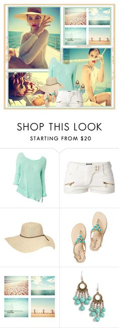 """""""When I Met You In The Summer"""" by ooolala ❤ liked on Polyvore featuring Balmain, Athleta, Bohemian Society, Summer, Model, beach and barbarapalvin"""