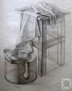 still life drawing pencil Academic Drawing, Drawing Studies, Pencil Drawing Tutorials, Art Tutorials, Drawing Ideas, Drawing Lessons, Drawing Techniques, Pencil Art, Pencil Drawings