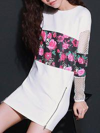 Pierced Polyester Mini Dress