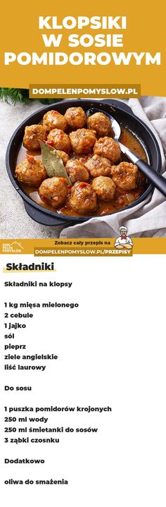 Polish Recipes, Good Food, Food And Drink, Dinner, Cooking, Garden Design, Room Decor, Diet, Recipe