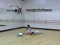 Dance Stretches! The Oversplit Stretch by: Just For Kix