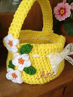 Craft Passions: Easter Basket free crochet pattern