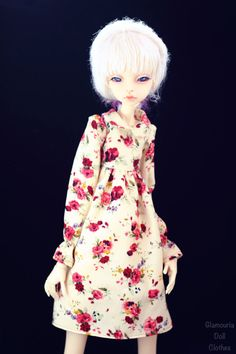 Floral dress for msd doll chateau kid k-7/k-11 body by GlamouriaDollClothes on Etsy https://www.etsy.com/listing/584410360/floral-dress-for-msd-doll-chateau-kid-k