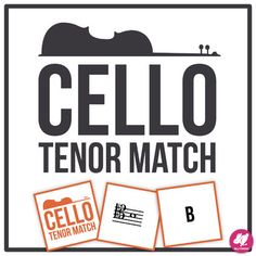 Cello Tenor Clef Range - Memory & Matching Card Game for Strings Music Education Activities, Teacher Resources, Teaching Ideas, Piano Lessons, Music Lessons, Teaching Orchestra, Middle School Music, Dance All Day, Elementary Music