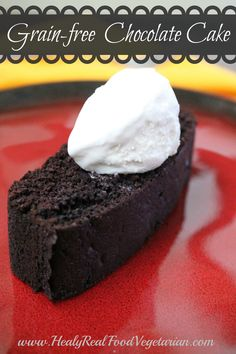 Grain-free Chocolate Cake @ Healy Eats Real #glutenfree #grainfree