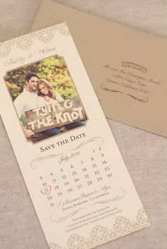 Love these Save the Dates...vintage/rustic PERFECT