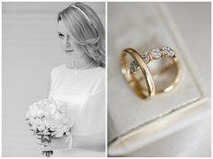 Foto der #Braut und Detailfoto der #Eheringe bei standesamtlicher Trauung #Berlin • Golden wedding rings