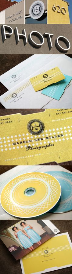Harold Lee Miller's Die Cut Business Card