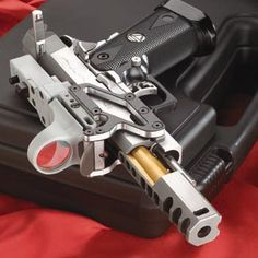 IMM Open pistol Stainless Steel with Titanium compensator