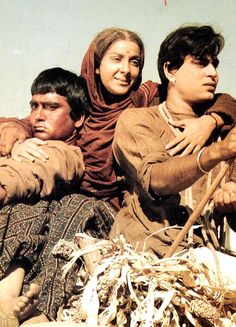 Nargis with Sunil Dutt and Rajendra Kumar in �Mother India�