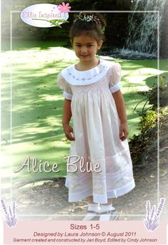 fairytale frocks and lollipops :: ellie inspired, laura johnson, alice blue, girl dress, formal, wedding, party, birthday, easter, valentine's day, e-pattern, downloadable pattern, pdf pattern, e-book, tutorial, instant