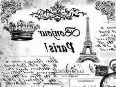Alex The Pink House: Immagini gratis per lavori creativi. Foto Transfer, Transfer Paper, Vintage Artwork, Vintage Prints, Painting Recipe, Image Paris, Papel Vintage, French Typography, Altered Canvas