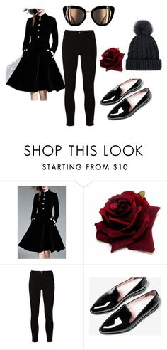 """long ago"" by fareedah-927 ❤ liked on Polyvore featuring WithChic and Frame"