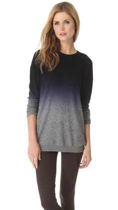 Vince Dip Dye Oversized Sweater