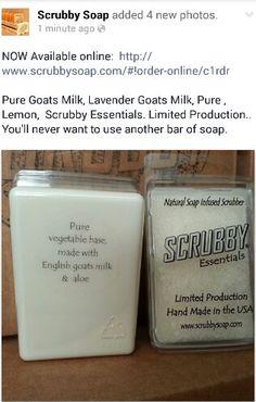 #scrubby #madeinusa #florida #essentials #puregoatsmilk #lavendergoatsmilk #pure #lemon #bath #shower #relax #scrubber #Lavender