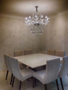 #diningroom #saladejantar #chandelier Sala De Jantar Com Lustre De Cristal  Mundo Das Luminárias Part 94