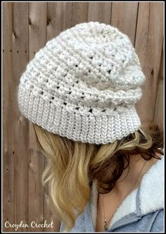 Hi everyone! So I thought I would share with you a slouchy hat pattern that I created about 2 years ago! I made it on a whim and it literally has been my e
