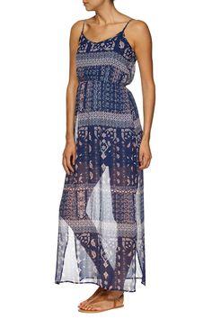 wv fleur maxi dress, EIFFEL PAISLEY NAVY