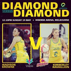 This week's Diamond v Diamond - Madison Browne v Kimberley Ravaillion.