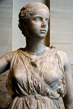daughterofchaos:  Roman statue of girl, National Museum of Rome, Palazzo Massimo Photo by cmgramse