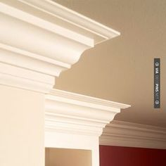 """So neat - Excellent tutorial on crown molding. It always looks intimidating, until you've done it once."" (Repinned.)"