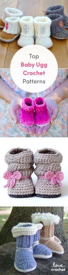 Crochet Baby Booties Try out making these snuggly, cosy ugg boots to keep your li...