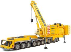 18-Wheel Lego Mobile Crane on wordlessTech   This amazing Lego Mobile 1:23.5 scale version of 18-wheel Liebherr LTM 1750-9.1 crane, its fully drivable and fully functional. The Lego remote controlled model of the Mobile Crane comes from Flickr builder Dawid Szmandra.