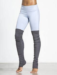 Goddess Ribbed Legging in Sky/stormy Heather by Alo Yoga from Carbon38
