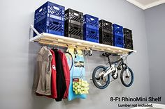 DIY RhinoMini Universal Shelf Kits for Garages & Other Applications Length; Laundry Organizer, Umbrellas For Sale, Teak Outdoor Furniture, Outdoor Umbrella, Outdoor Dining Set, Garages, Storage Cabinets, Porch Swing, Outdoor Storage