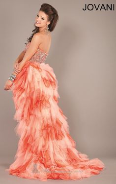 #prom #dress #pretty #promdress #coral #hair