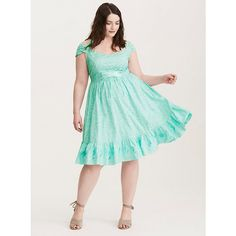 Torrid Disney Ariel Embroidered Halter Dress ($69) ❤ liked on Polyvore featuring dresses, sexy cocktail dresses, sexy green dress, plus size green corset, lace up corset and plus size corsets