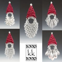 Here is a guide to making my Tiny Scale and Chain Maille Santas. You'll need to know the following weaves – European 4-in-1 (E41), Jens Pind Linkage (JPL), Hoodoo Hex, Shaggy Loops and Mobius– to c…
