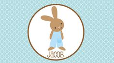 Personalized Easter Boys Bunny Placemat by sweetmadygifts on Etsy, $18.00