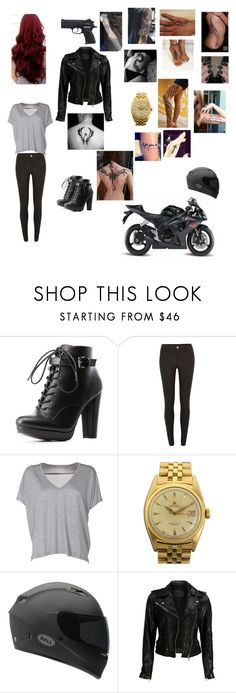 """The Badass Babysitter"" by kacyhitchin ❤ liked on Polyvore featuring Charlotte Russe, River Island, Acne Studios, Rolex, Matchless, Maisto and VIPARO"