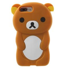 Cute 3D Bear Case Cover For iPhone 7 7 plus 6s 6 plus 5 5S SE 5c 4S touch 5/6 cases Silicone Phone Case