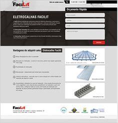 Landing Page para Eletrocalhas Facilit